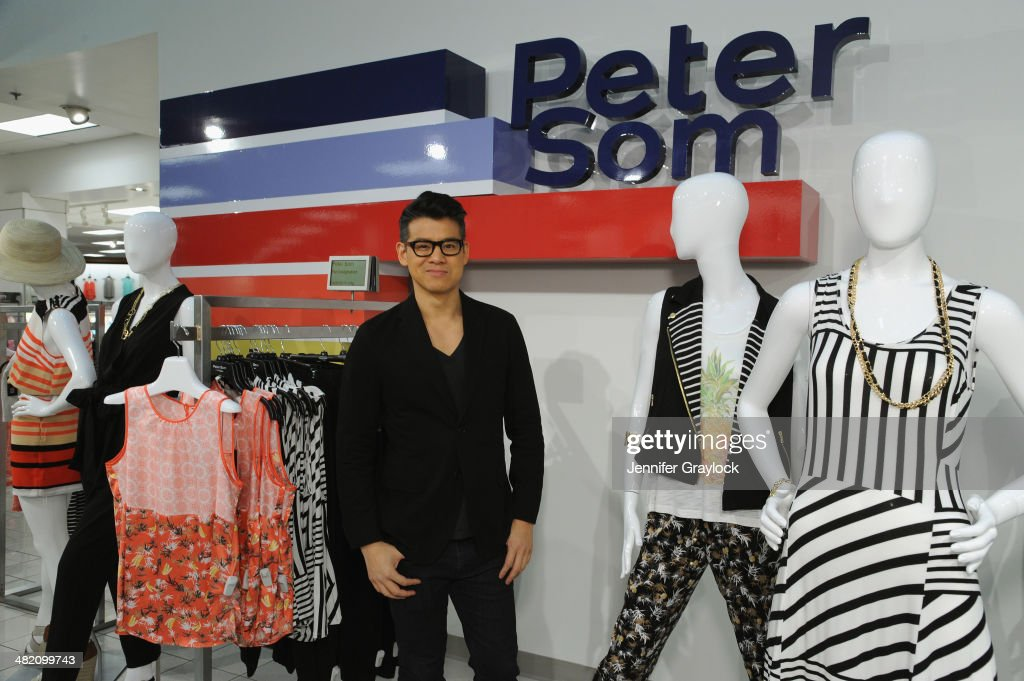 Designer Peter Som poses as Kohls and Peter Som host an exclusive blogger event with Stylist Mary Alice Stephenson for the limited-edition Peter Som DesigNation Collection exclusively at Kohls this Spring at the Kohls Jersey City store On April 2, 2014.