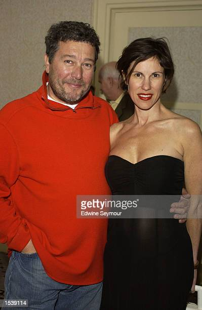 Designer Philip Starck and his wife Nori attend the Black Alumni of Pratt Scholarship Fund reception at the Waldorf Astoria hotel May 1 2002 in New...