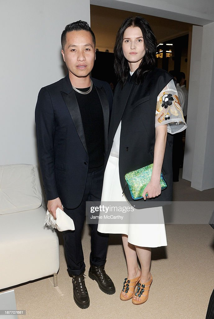 Designer Phillip Lim and model Katlin Aas attend CFDA and Vogue 2013 Fashion Fund Finalists Celebration at Spring Studios on November 11, 2013 in New York City.