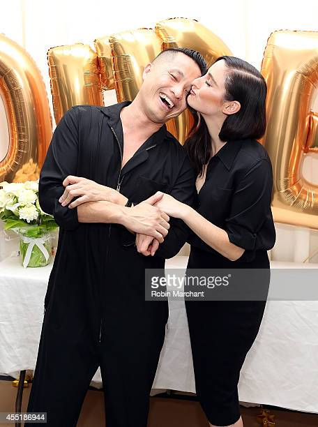 Designer Phillip Lim and recording artist Jillian Banks attend 31 Phillip Lim NYC Flagship Store Opening on September 9 2014 in New York City