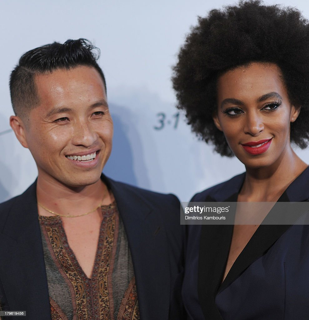 Designer Phillip Lim and Solange Knowles attend the 3.1 Phillip Lim for Target Launch Event at Spring Studio on September 5, 2013 in New York City.