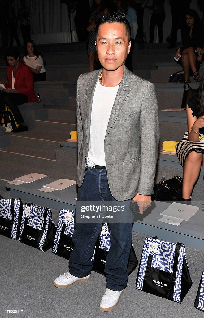 Designer Phillip Lim attends the Richard Chai Spring 2014 fashion show during Mercedes-Benz Fashion Week at The Stage at Lincoln Center on September 5, 2013 in New York City.