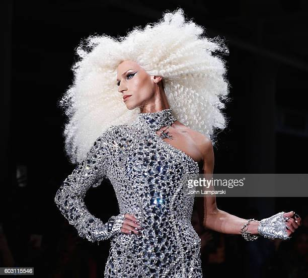 Designer Phillipe Blond walks the runway during the The Blonds show on September 2016 MADE Fashion Week at Milk Studios on September 11 2016 in New...