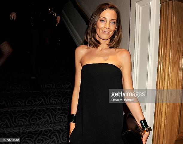 Designer Phoebe Philo attends the British Fashion Awards 2010 Cocktail Reception at The Savoy Hotel on December 7 2010 in London England