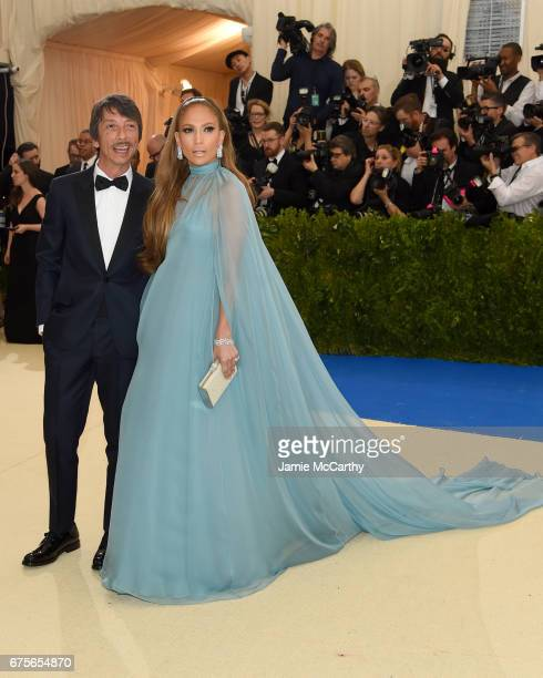 Designer Pierpaolo Piccioli and Jennifer Lopez attend the 'Rei Kawakubo/Comme des Garcons Art Of The InBetween' Costume Institute Gala at...