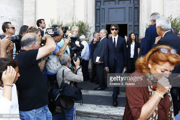 Designer Pierpaolo Piccioli attends during the Carla Fendi Funeral at Chiesa degli Artisti on June 22 2017 in Rome Italy