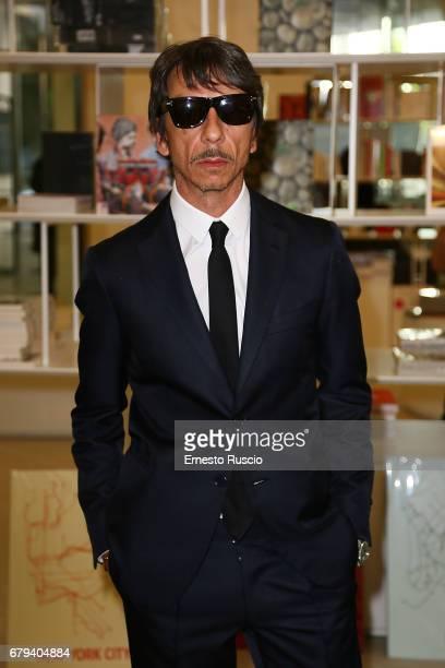 Designer Pierpaolo Piccioli attends President Mattarella visits Maxxi Museum at Maxxi Museum on May 5 2017 in Rome Italy