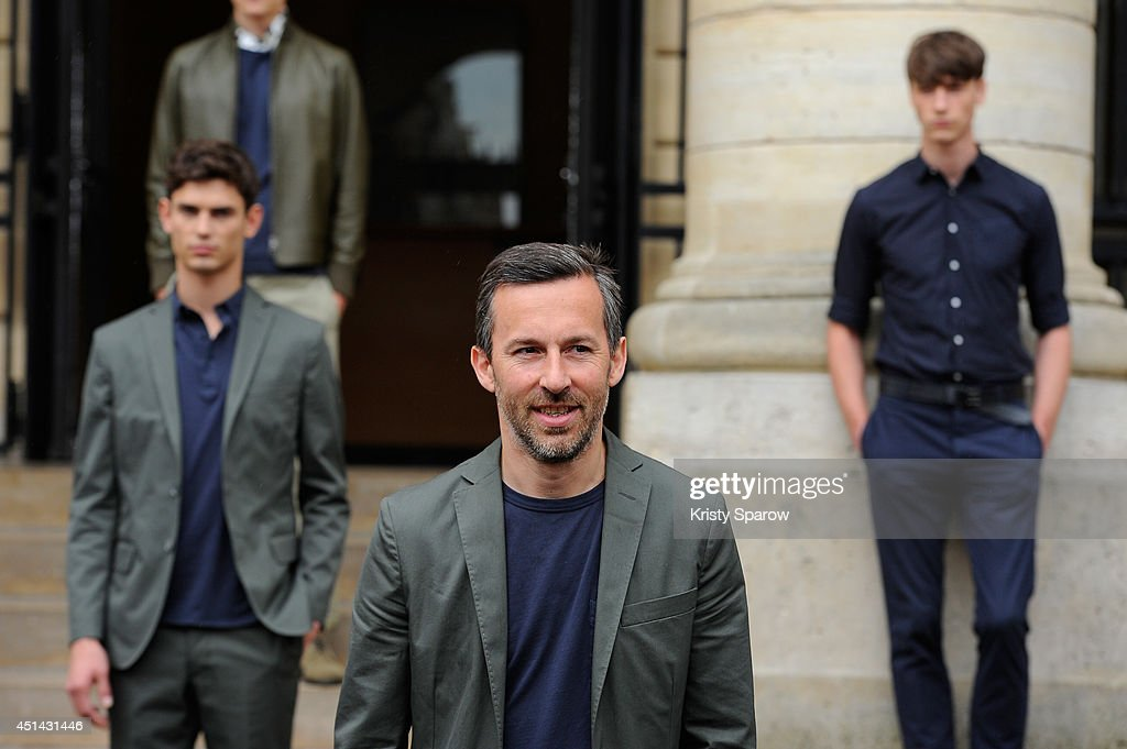 Designer Pierre Maheo acknowledges the audience during the Officine Generale show as part of Paris Fashion Week Menswear Spring/Summer 2015 on June 29, 2014 in Paris, France.