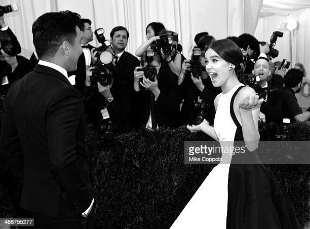 Designer Prabal Gurung and actress Hailee Steinfeld attend the 'Charles James Beyond Fashion' Costume Institute Gala at the Metropolitan Museum of...