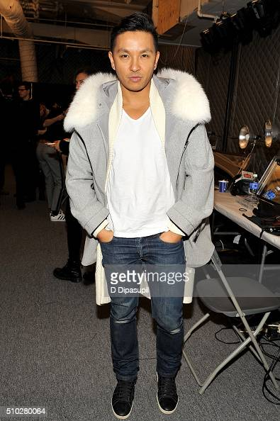 Designer Prabal Gurung poses backstage at the Prabal Gurung Fall 2016 fashion show during New York Fashion Week The Shows at The Arc Skylight at...