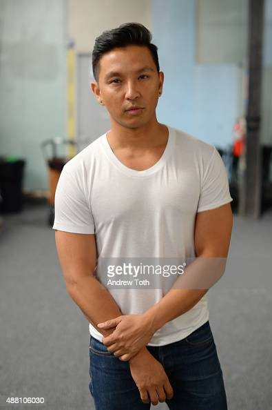 Designer Prabal Gurung poses backstage at the Prabal Gurung show during Spring 2016 New York Fashion Week The Shows at The Arc Skylight at Moynihan...