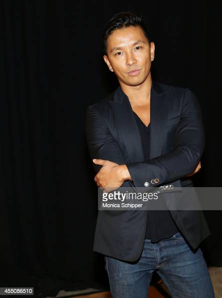 Designer Prabal Gurung poses for a photo backstage at the ICB fashion show during MercedesBenz Fashion Week Spring 2015 at Art Beam on September 9...