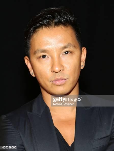 Designer Prabal Gurung poses for a photo backstage at the ICB fashion show during MercedesBenz Fashion Week Spring 2015 at Art Beam on September 9...