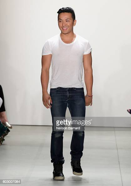 Designer Prabal Gurung poses on the runway at the Prabal Gurung fashion show during New York Fashion Week The Shows September 2016 at The Gallery...