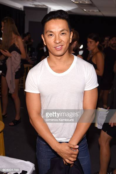 Designer Prabal Gurung prepares backstage at the Prabal Gurung fashion show during New York Fashion Week The Shows September 2016 at The Gallery...