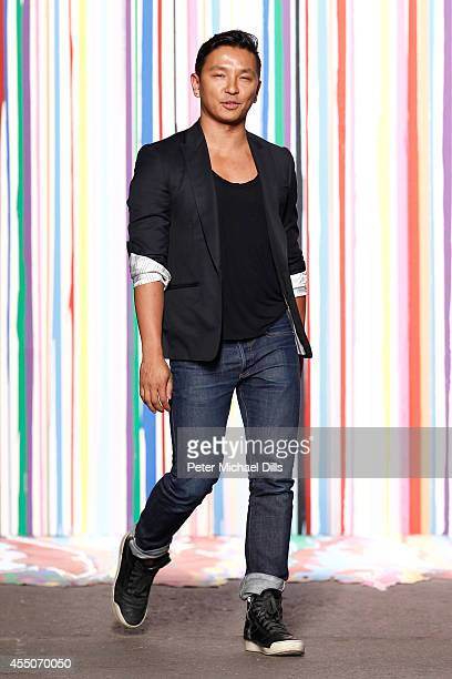 Designer Prabal Gurung walks the runway at the ICB fashion show during MercedesBenz Fashion Week Spring 2015 at Art Beam on September 9 2014 in New...