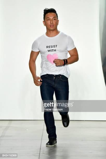 Designer Prabal Gurung walks the runway for Prabal Gurung fashion show during New York Fashion Week The Shows at Gallery 2 Skylight Clarkson Sq on...