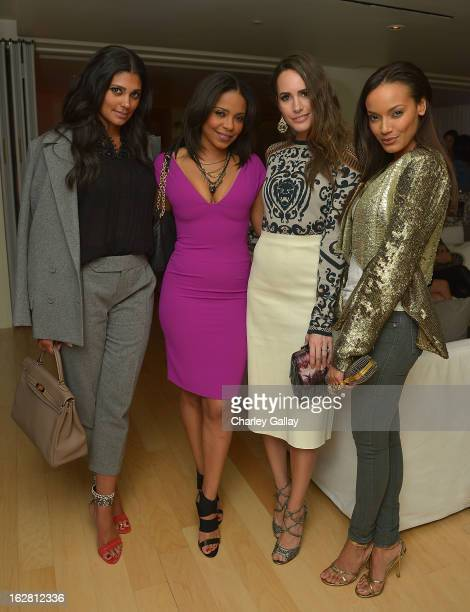 Designer Rachel Roy actress Sanaa Lathan television personality Louise Roe and model Selita Ebanks attend Rachel Roy Celebrates the New Host of...