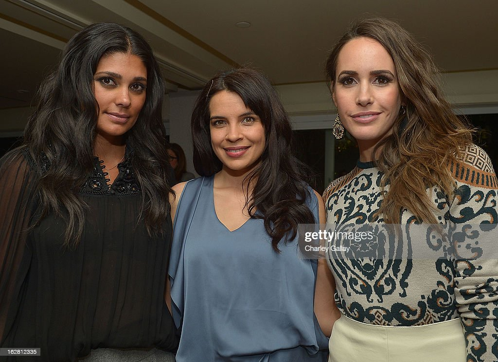 Designer Rachel Roy, actress Zuleikha Robinson, and television personality Louise Roe attend Rachel Roy Celebrates the New Host of 'Fashion Star' Louise Roe at Mondrian Los Angeles on February 27, 2013 in West Hollywood, California.