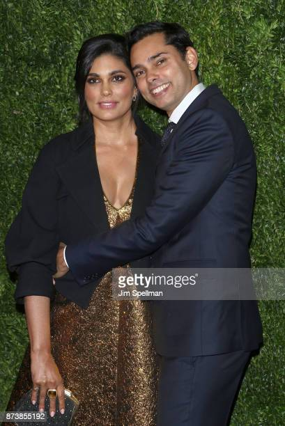 Designer Rachel Roy and chief film curator of the Museum of Modern Art Rajendra Roy attend the 2017 Museum of Modern Art Film Benefit Tribute to...