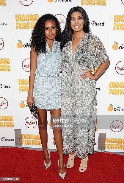 Designer Rachel Roy and daughter Ava Dash attend the premiere of 'Digging For Fire' at ArcLight Cinemas on August 13 2015 in Hollywood California