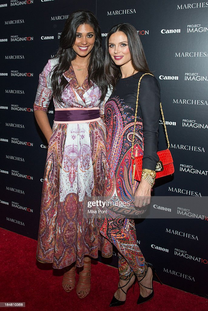 Designer Rachel Roy and Designer / Director Georgina Chapman attend the 'A Dream Of Flying' Project Imaginat10n special screening at Crosby Street Hotel on October 16, 2013 in New York City.