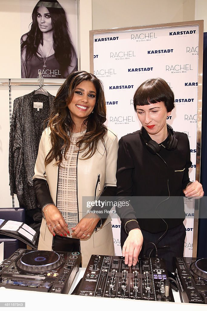 Designer Rachel Roy (L) and DJ Eva Be. attend the Rachel Roy collection presentation at Karstadt on November 21, 2013 in Hamburg, Germany.
