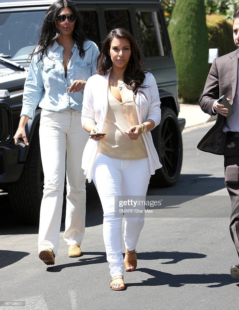 Designer Rachel Roy and <a gi-track='captionPersonalityLinkClicked' href=/galleries/search?phrase=Kim+Kardashian&family=editorial&specificpeople=753387 ng-click='$event.stopPropagation()'>Kim Kardashian</a> as seen on April 20, 2013 in Los Angeles, California.