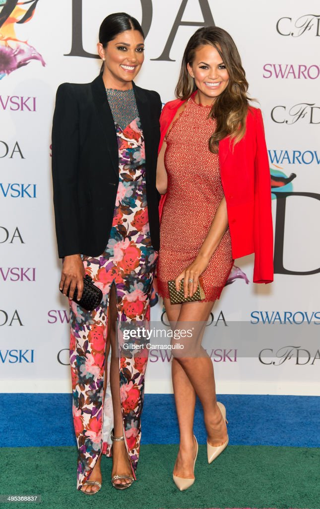 Designer Rachel Roy and model Chrissy Teigen attend the 2014 CFDA fashion awards at Alice Tully Hall Lincoln Center on June 2 2014 in New York City