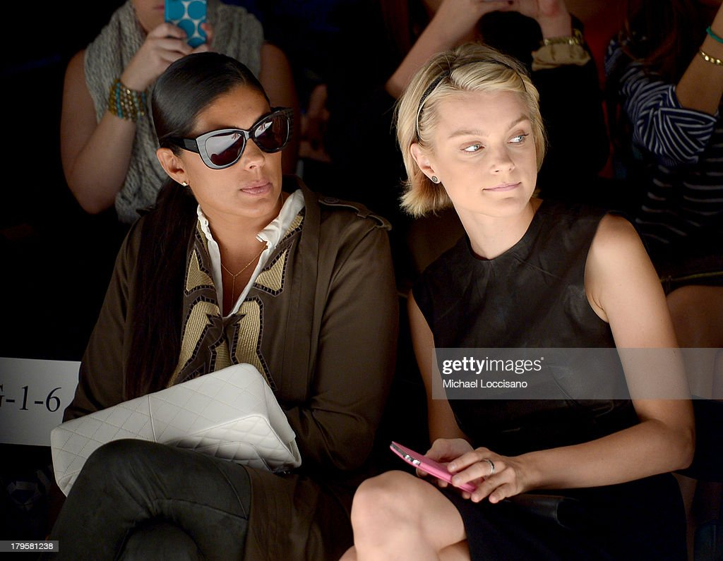 Designer Rachel Roy (L) and model <a gi-track='captionPersonalityLinkClicked' href=/galleries/search?phrase=Jessica+Stam&family=editorial&specificpeople=657570 ng-click='$event.stopPropagation()'>Jessica Stam</a> attend the Supima Spring 2014 fashion show during Mercedes-Benz Fashion Week at The Studio at Lincoln Center on September 5, 2013 in New York City.