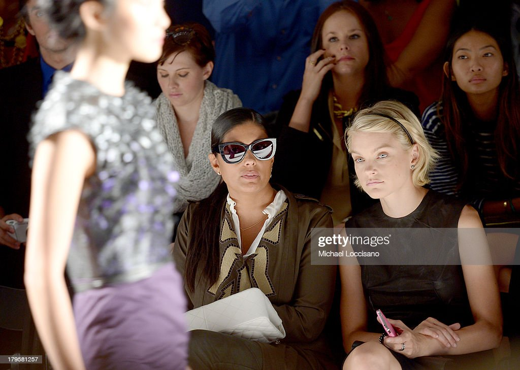 Designer Rachel Roy (L) and model Jessica Stam attend the Supima Spring 2014 fashion show during Mercedes-Benz Fashion Week at The Studio at Lincoln Center on September 5, 2013 in New York City.