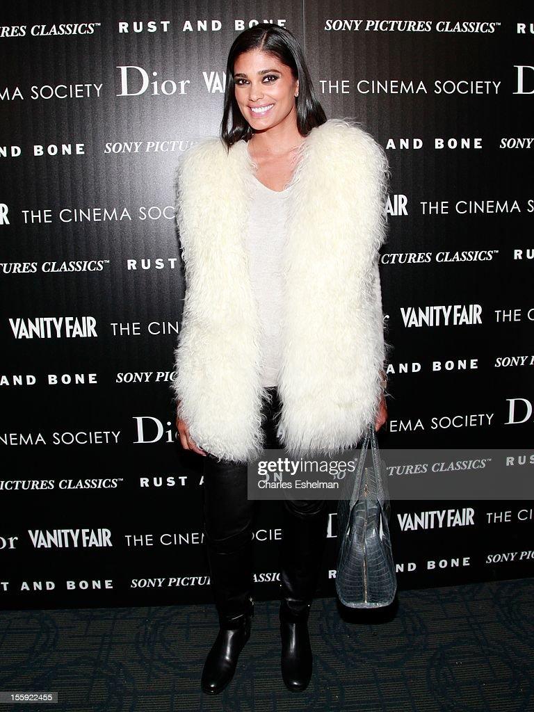 Designer Rachel Roy attends The Cinema Society with Dior & Vanity Fair host a screening of 'Rust and Bone' at Landmark Sunshine Cinema on November 8, 2012 in New York City.