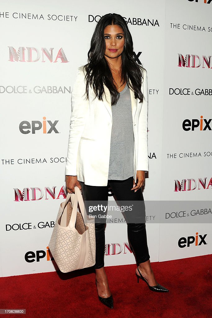Designer Rachel Roy attends the Dolce & Gabbana and The Cinema Society screening of the Epix World premiere of 'Madonna: The MDNA Tour' at The Paris Theatre on June 18, 2013 in New York City.