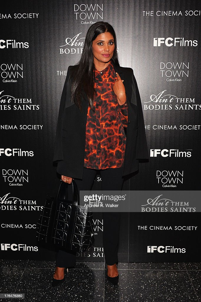 Designer Rachel Roy attends the Downtown Calvin Klein with The Cinema Society screening of IFC Films' 'Ain't Them Bodies Saints' at the Museum of...