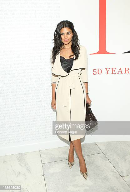 Designer Rachel Roy attends the exhibition opening night gala for 'Impact 50 Years of the CFDA' at The Fashion Institute of Technology on February 9...