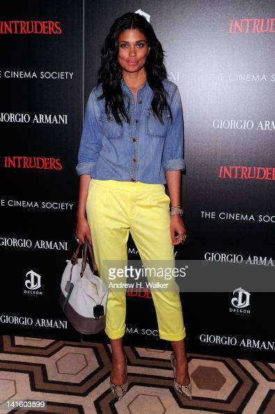 Designer Rachel Roy attends the Giorgio Armani The Cinema Society screening of 'Intruders' at the Tribeca Grand Hotel on March 19 2012 in New York...
