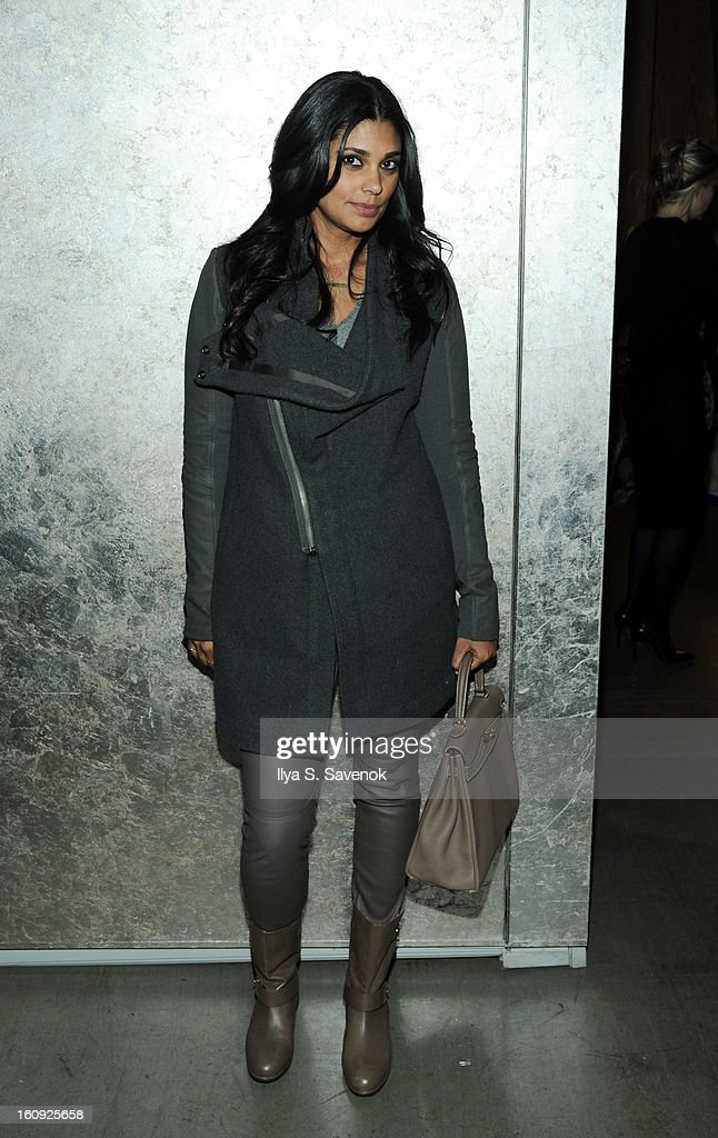 Designer Rachel Roy attends the La Perla fall 2013 presentation during Mercedes-Benz Fashion Week at The Gallery at The Dream Downtown Hotel on February 7, 2013 in New York City.