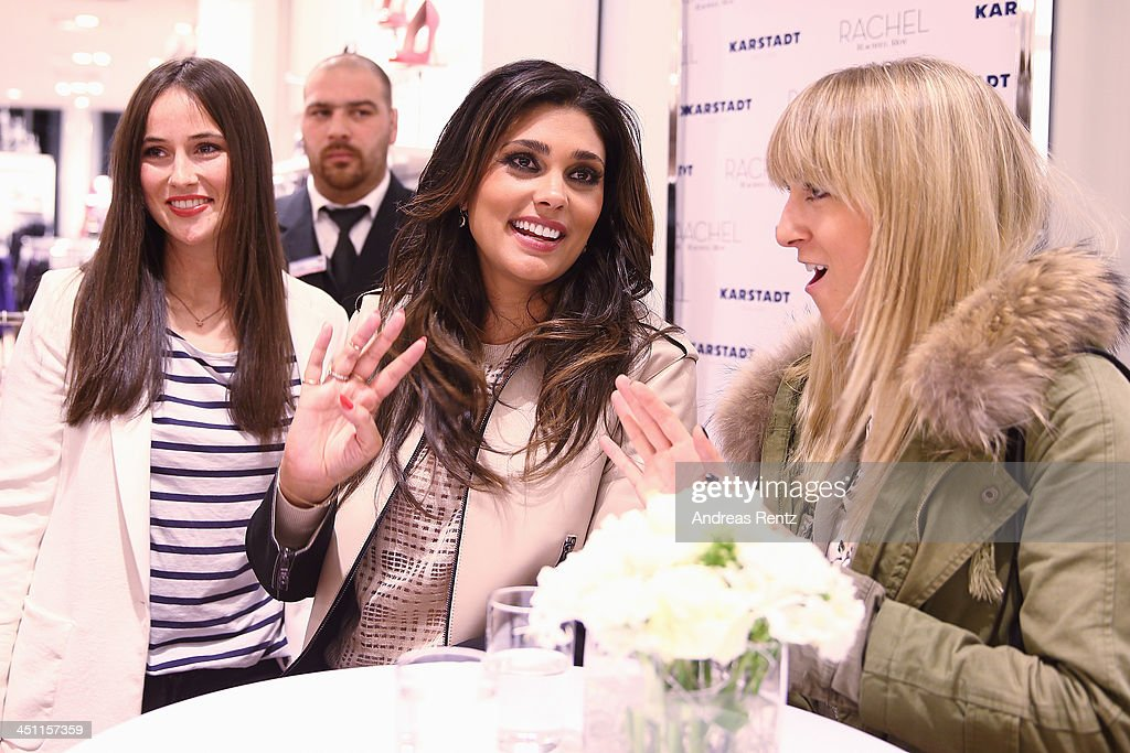 Designer Rachel Roy (C) attends the Rachel Roy collection presentation at Karstadt on November 21, 2013 in Hamburg, Germany.