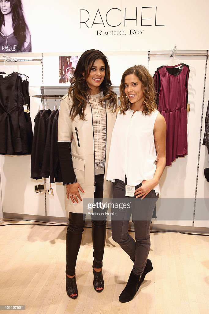 Designer Rachel Roy (L) attends the Rachel Roy collection presentation at Karstadt on November 21, 2013 in Hamburg, Germany.