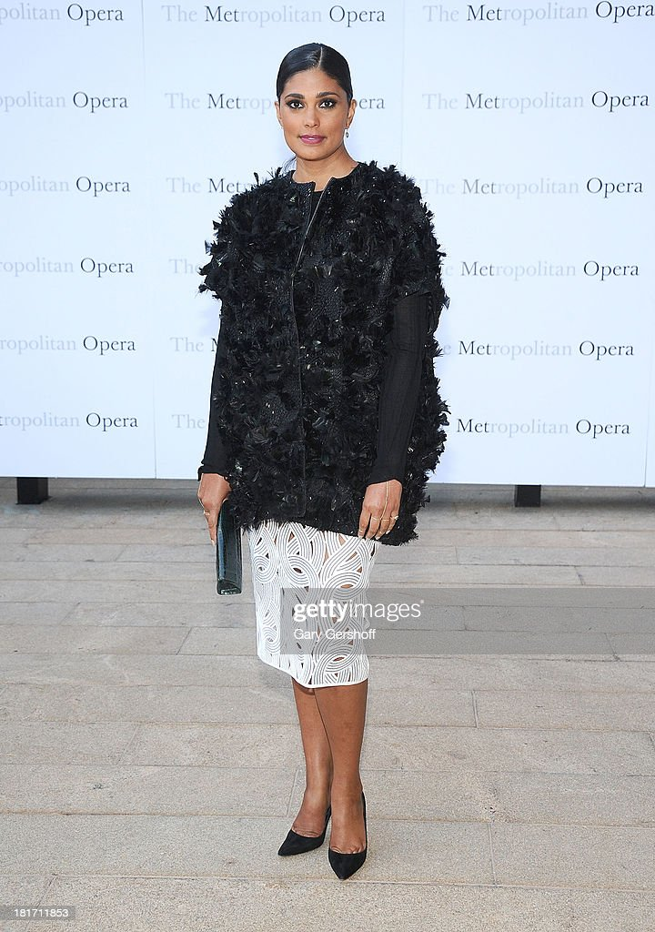 Designer Rachel Roy attends the season opening performance of Tchaikovsky's 'Eugene Onegin' at The Metropolitan Opera House on September 23, 2013 in New York City.