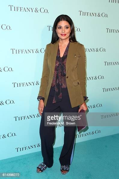 Designer Rachel Roy celebrates the unveiling of the renovated Tiffinay Co Beverly Hills store at Tiffany Co on October 13 2016 in Beverly Hills...