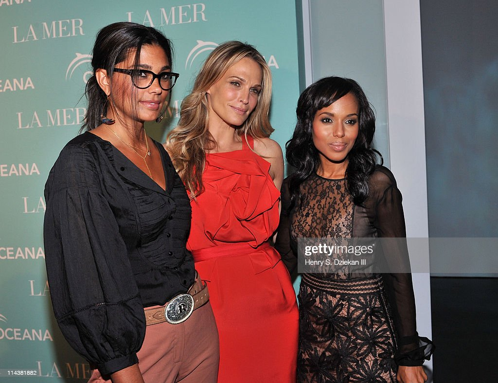 Designer Rachel Roy, Molly Sims and actress Kerry Washington attend World Ocean Day 2011 celebrated by La Mer and Oceana at Affirmation Arts on May 18, 2011 in New York City.