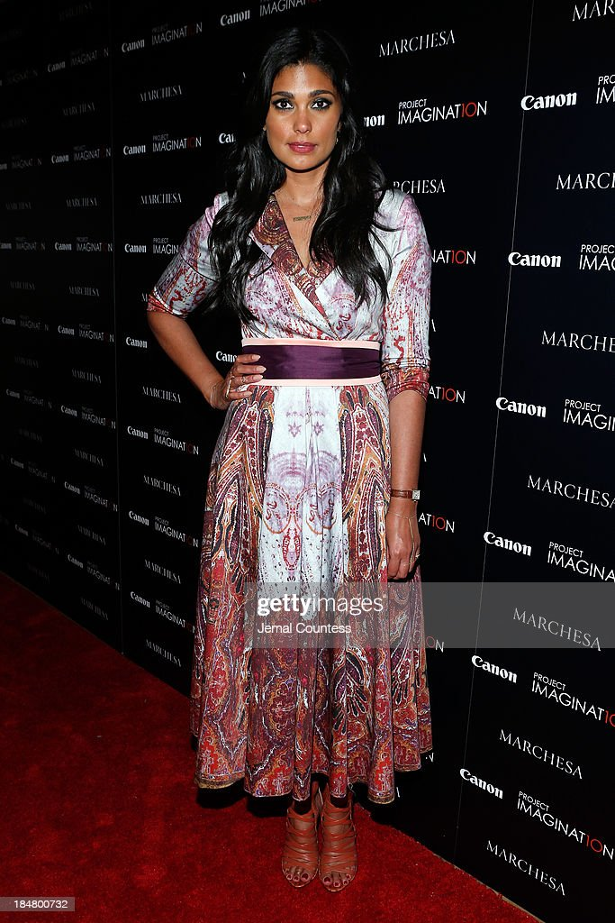 Designer Rachel Roy walks the carpet at Canon's Project Imaginat10n screening of 'A Dream of Flying,' a short film by Georgina Chapman at Crosby Street Hotel on October 16, 2013 in New York City.