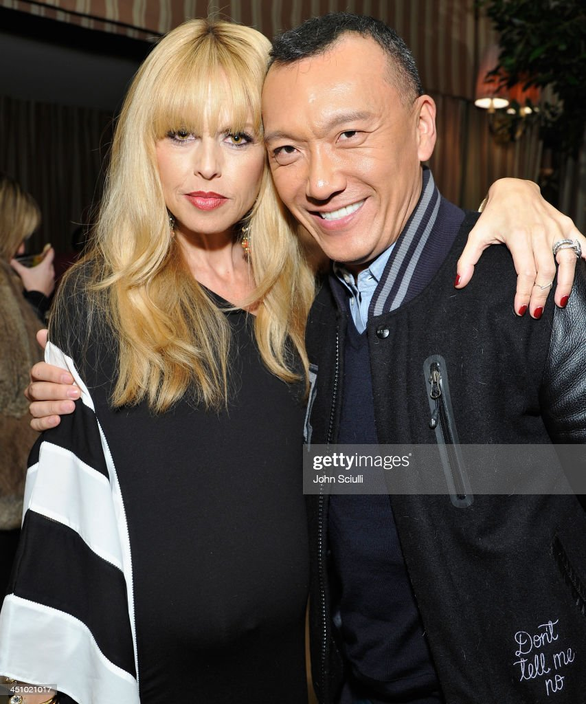 Designer Rachel Zoe and Elle Magazine Creative Director <a gi-track='captionPersonalityLinkClicked' href=/galleries/search?phrase=Joe+Zee&family=editorial&specificpeople=2257766 ng-click='$event.stopPropagation()'>Joe Zee</a> attend the relaunch of 'The Zoe Report' Hosted by FIJI Water at the Sunset Tower Hotel on November 20, 2013 in Los Angeles, California.