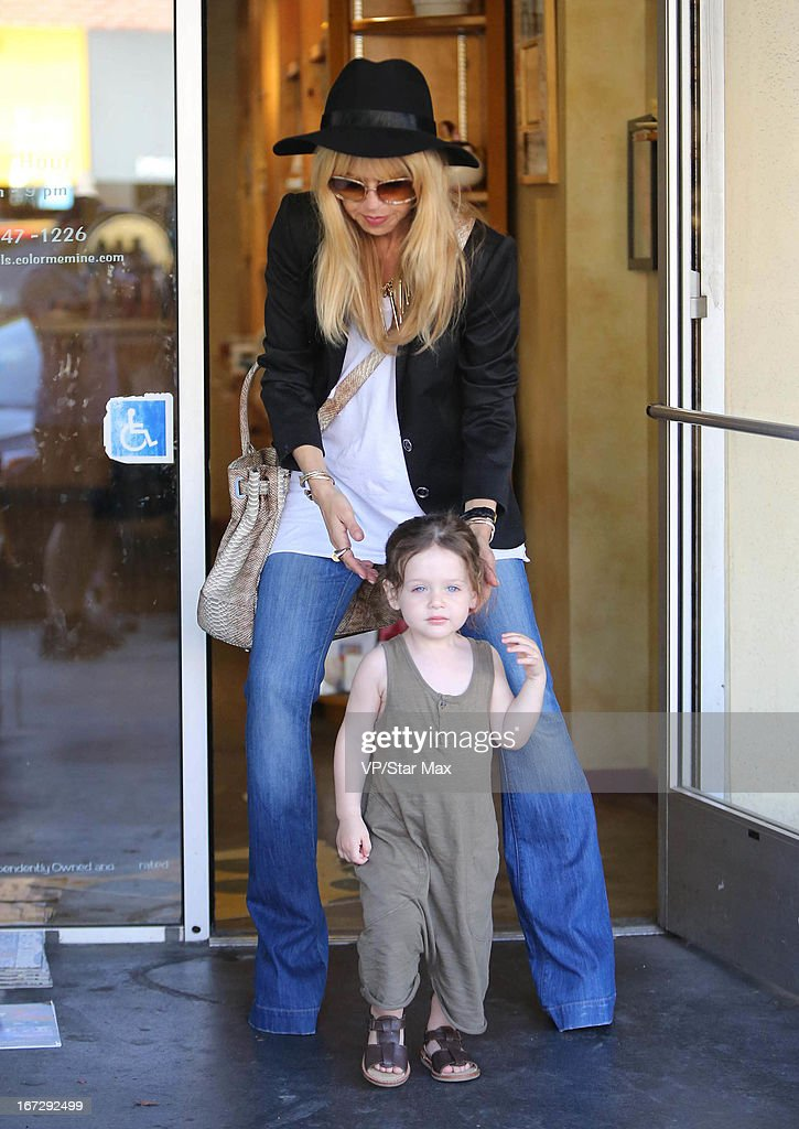 Designer <a gi-track='captionPersonalityLinkClicked' href=/galleries/search?phrase=Rachel+Zoe+-+Styliste&family=editorial&specificpeople=546501 ng-click='$event.stopPropagation()'>Rachel Zoe</a> and her son <a gi-track='captionPersonalityLinkClicked' href=/galleries/search?phrase=Skyler+Morrison+Berman&family=editorial&specificpeople=7875496 ng-click='$event.stopPropagation()'>Skyler Morrison Berman</a> as seen on April 23, 2013 in Los Angeles, California.