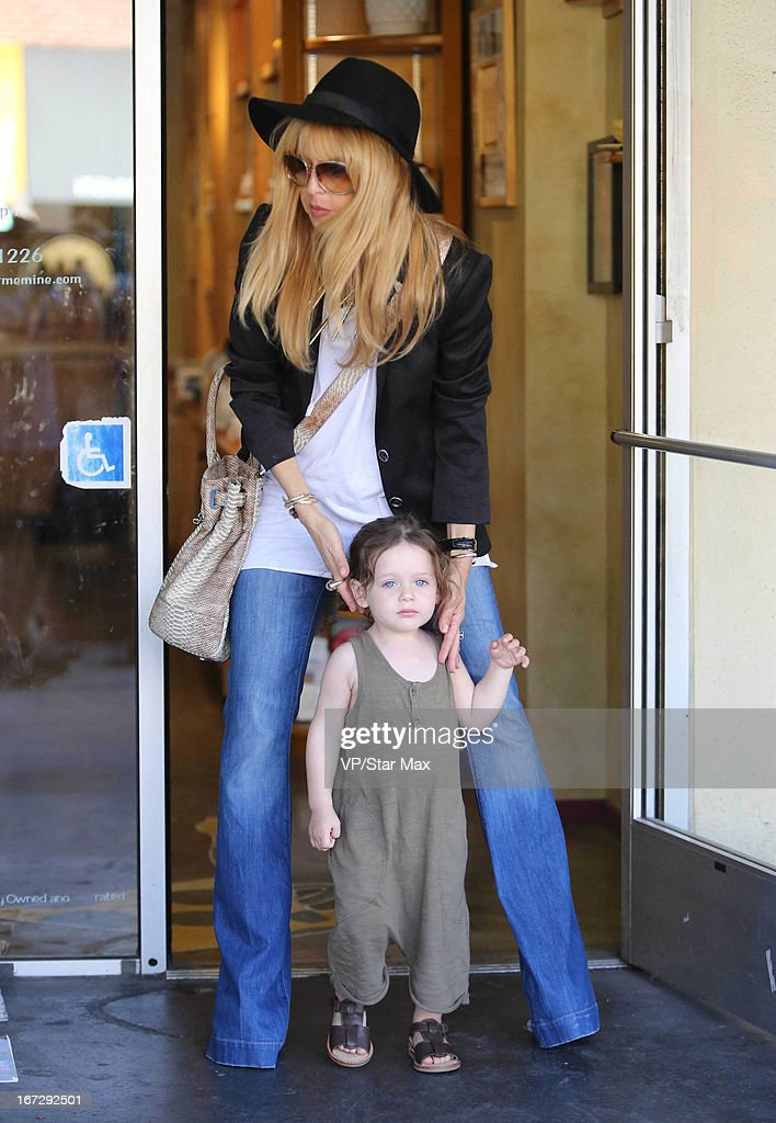 Designer Rachel Zoe and her son Skyler Morrison Berman as seen on April 23, 2013 in Los Angeles, California.