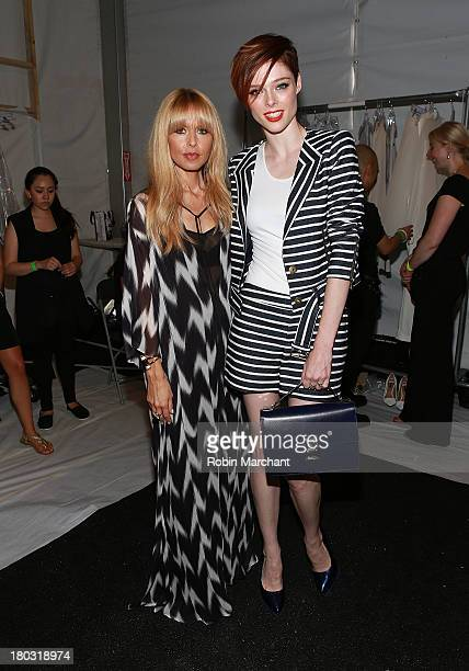 Designer Rachel Zoe and model Coco Rocha attend the Rachel Zoe show during Spring 2014 MercedesBenz Fashion Week at The Studio at Lincoln Center on...