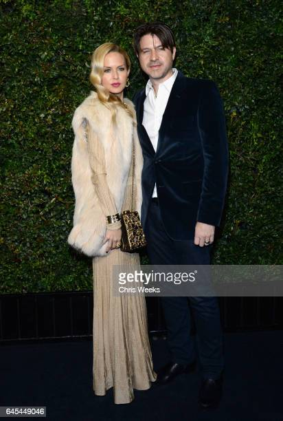 Designer Rachel Zoe and Rodger Berman attend the Charles Finch and CHANEL PreOscar Awards Dinner at Madeo Restaurant on February 25 2017 in Beverly...