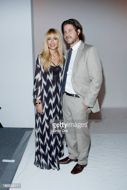 Designer Rachel Zoe and Rodger Berman pose backstage at the Rachel Zoe fashion show during MercedesBenz Fashion Week Spring 2014 at The Studio at...