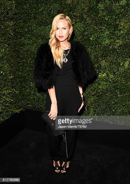 Designer Rachel Zoe attends the Charles Finch and Chanel PreOscar Awards Dinner at Madeo Restaurant on February 27 2016 in Los Angeles California